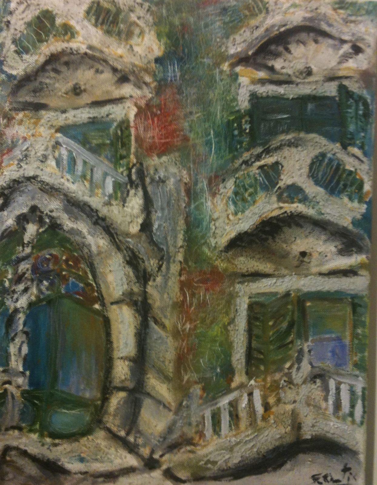 Gaudi Cuadro a Barcelona# Casa Batlló Barcelona Gaudi pintura# Pinturas sobre Barcelona# pinturas murales#