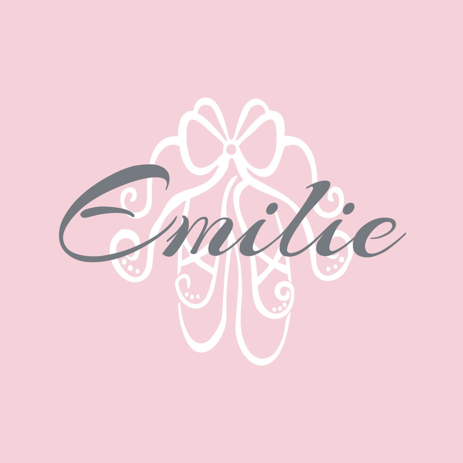 Personalized ballerina wall decal ballet shoe by fleurishwalls personalized ballerina wall decal ballet shoe by fleurishwalls 3695 amipublicfo Gallery