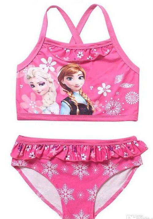 3110b654a0 Frozen bikini Swim Suit Frozen Elsa Anna Disney Swimming Costume girls pink
