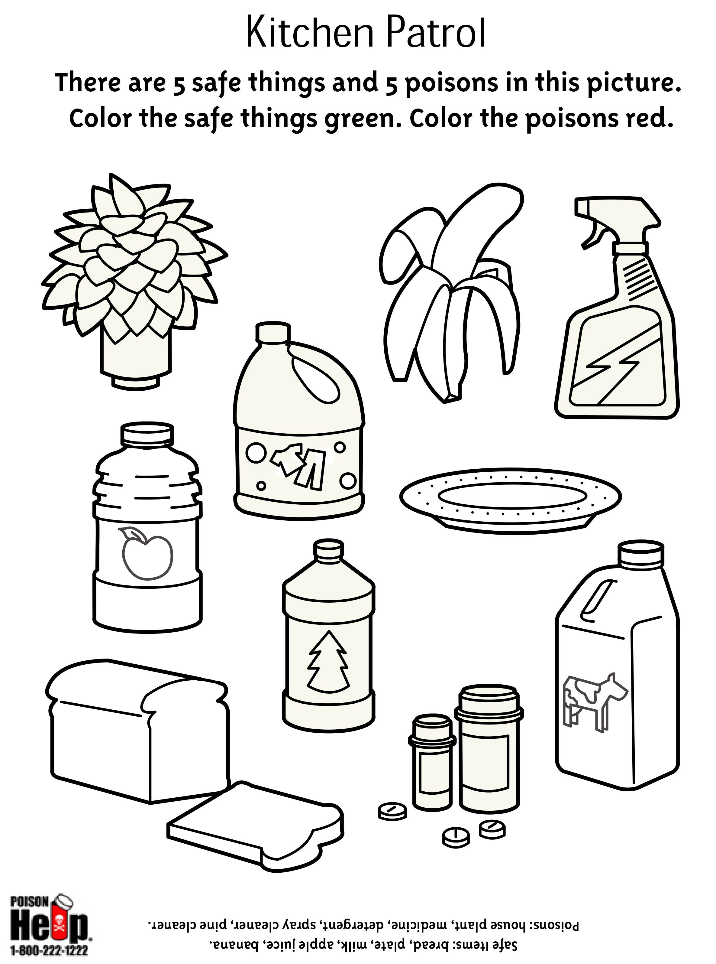 Health Safety Preschool Worksheet