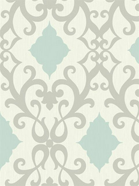 blue and grey contemporary damask wallpaper sbk26840 - Contemporary Damask Wallpaper