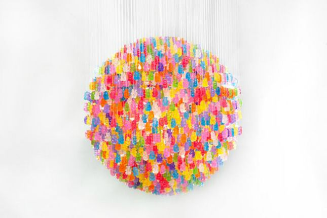 Yes, this is a gummy bear chandelier.