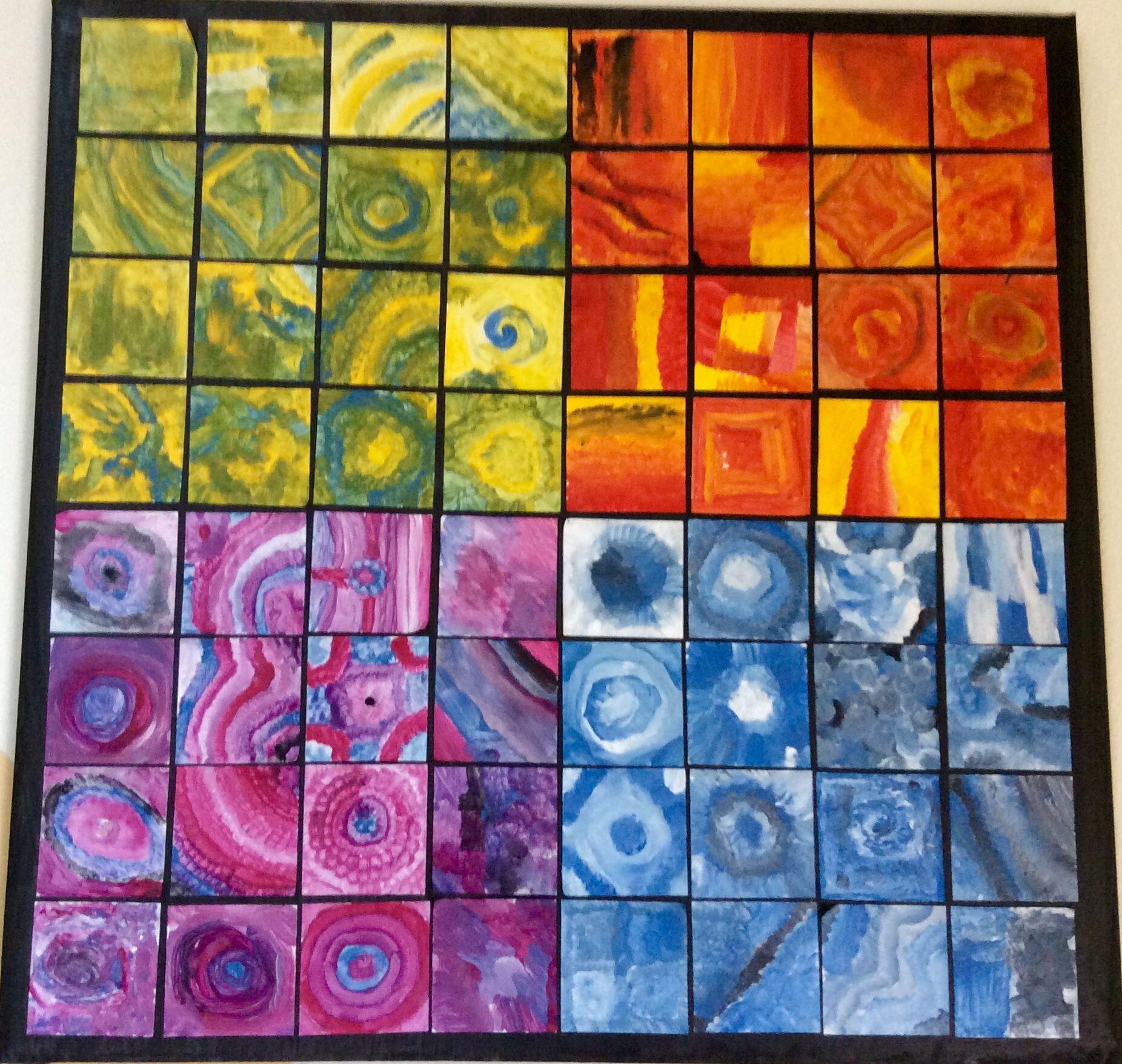 Arbeitsblätter Farben Mischen : Gemeinschaftsarbeit jedes kind gestaltet blätter