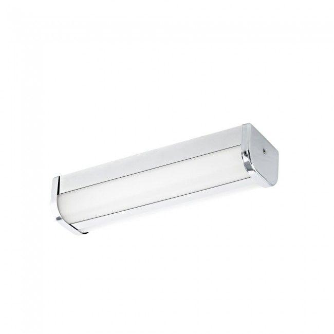 EGLO MELATO LED Spiegelleuchte L-350, 1-flg, chrom, weiss - badezimmer led deckenleuchte ip44