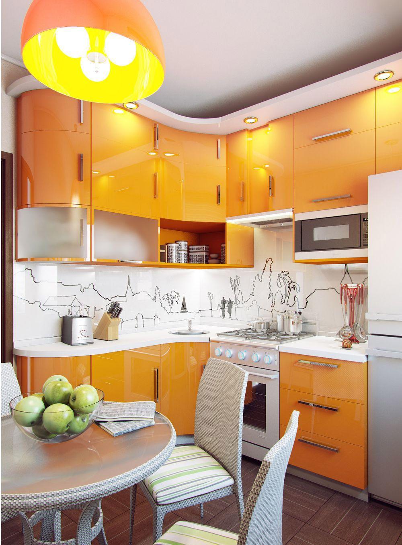 Good маленькие кухни 4.5 квадратов дизайн фото хрущевка: 15 тыс изображений  найдено в Яндекс.Картинках · Orange KitchenKitchen DesignKitchen ...