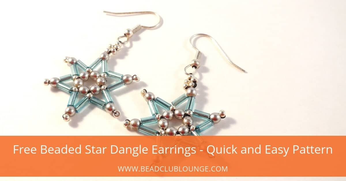 Free Beaded Star Dangle Earrings Quick And Easy Pattern Dangle
