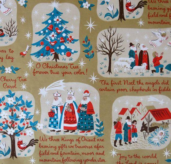 vintage christmas gift wrap Norcross