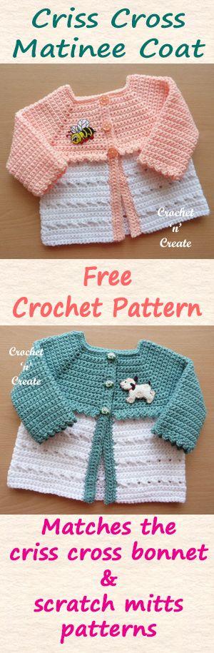 Crisscross Matinee Coat | Pinterest | Crochet, Patterns and Babies