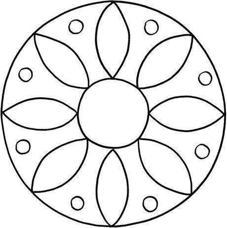 mandalas zum ausdrucken und ausmalen 19 com imagens   mandala simples, mandalas para crianças