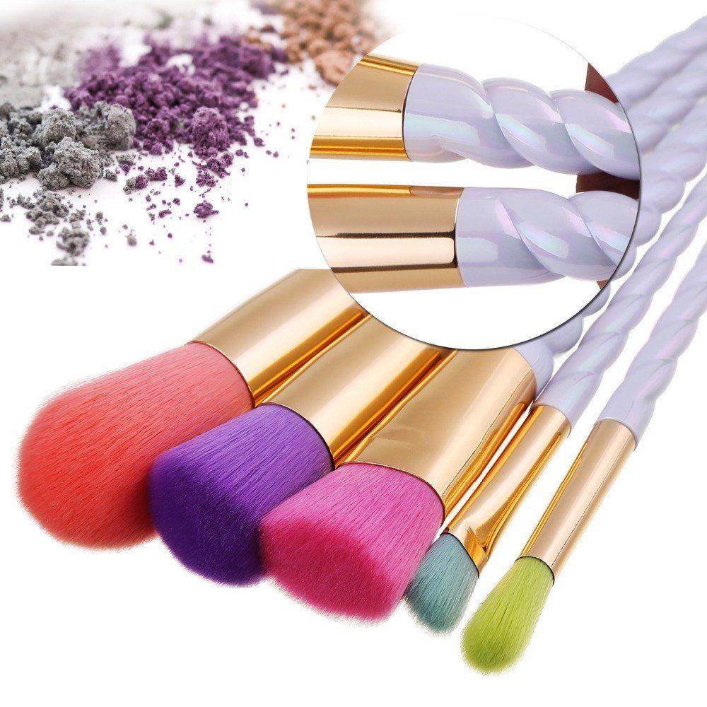 Unicorn Makeup Brushes 5pcs Rainbow Makeup brushes