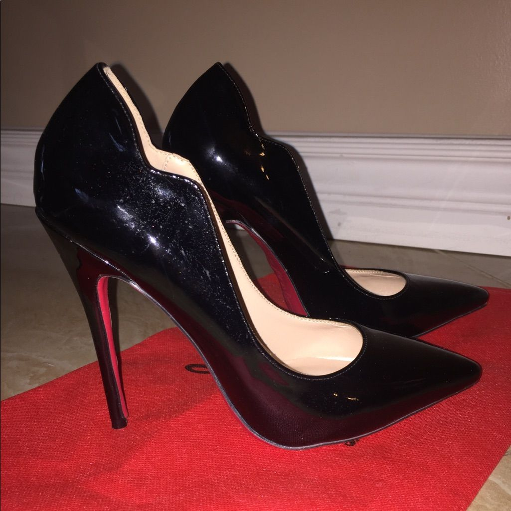 more photos 143f0 dcbe2 Patent Leather Black High Heel Pumps Red Bottom   Color ...