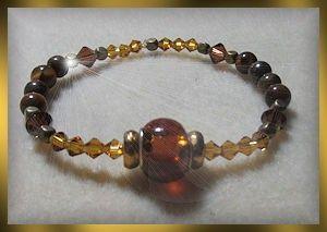 Golden and Brown Bracelet