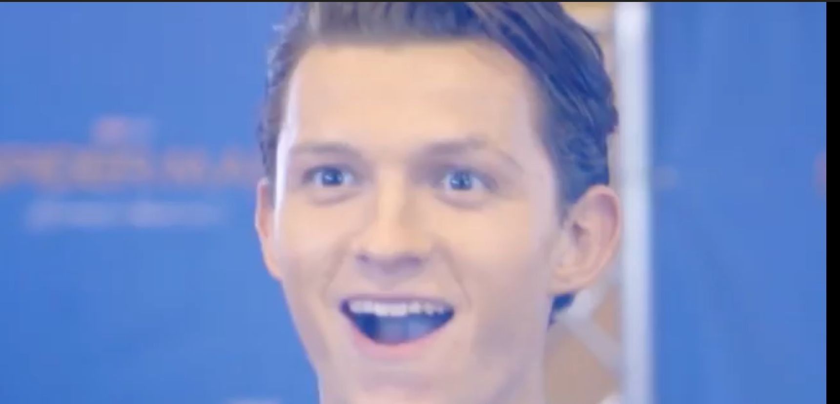 No one can beat that smile Tom holland, Tom holland