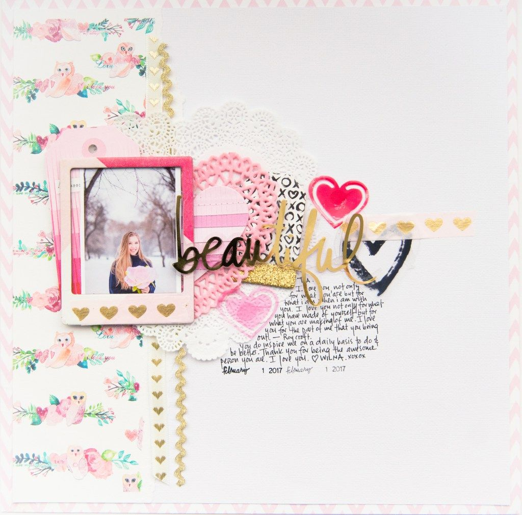 Heart Layers Scrapbook Page 3