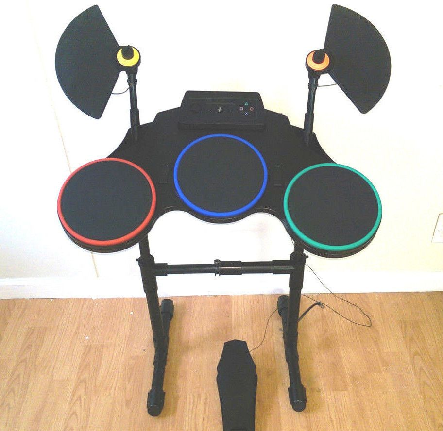 ps3 playstation 3 guitar hero wireless drum controller set w cymbals foot pedal ebay listings. Black Bedroom Furniture Sets. Home Design Ideas