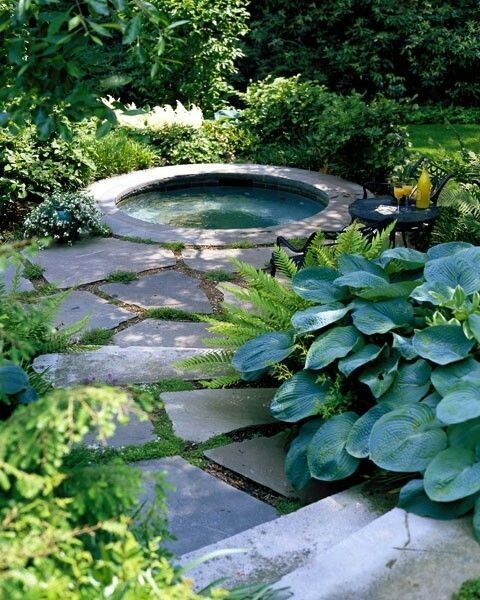 Outside Cabin Jacuzzi Hot Tub Garden Hot Tub Outdoor Hot Tub Landscaping