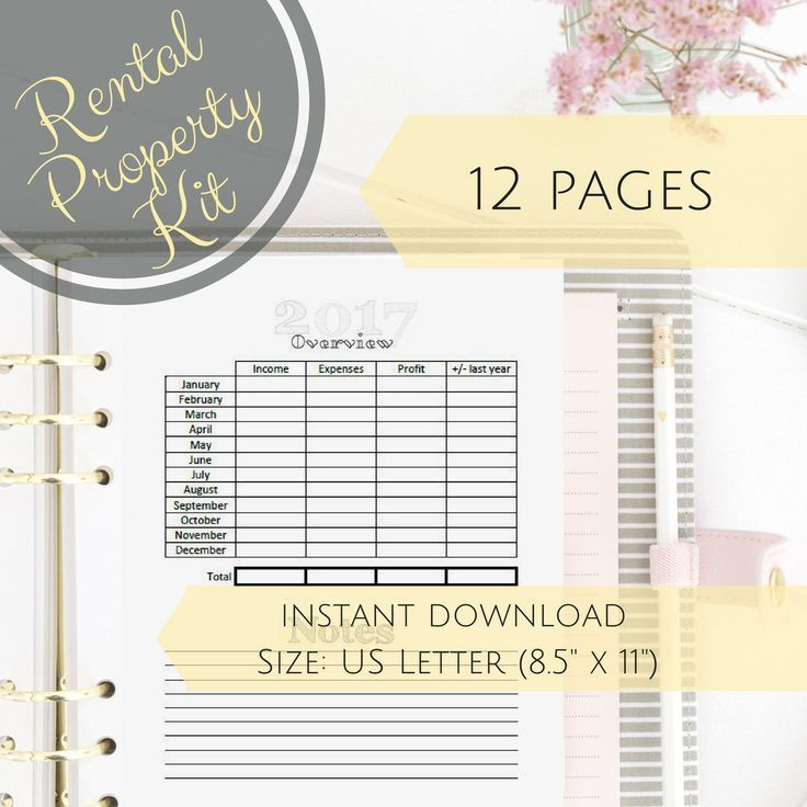 Business Planner, Printable Property Management Kit, AirBnB - rental management template