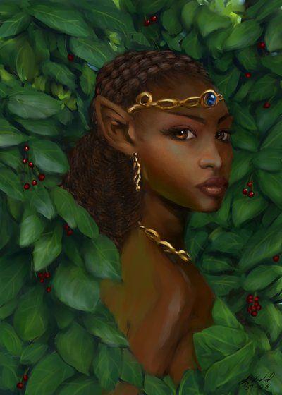 Fantasy Portrait - Female Elf by digistyle.deviantart.com on @deviantART