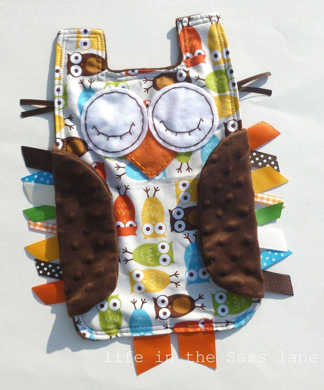 Urban Zoologie Cream Owls Ribbon Tag Baby by LifeInTheSassLane, $24.00