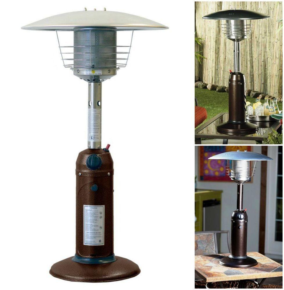 Outdoor Tabletop Heater Gas Patio Portable Warmer Garden Yard Porch Steel  Warmth #AZ