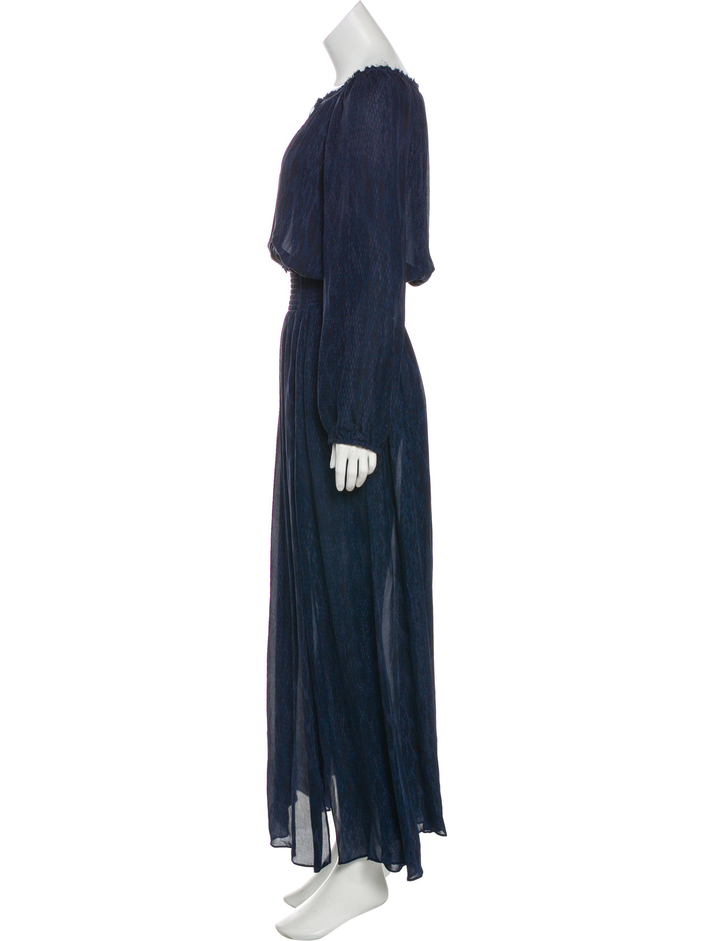a8a11bb1007 Dark slate LoveShackFancy silk maxi dress with animal print throughout