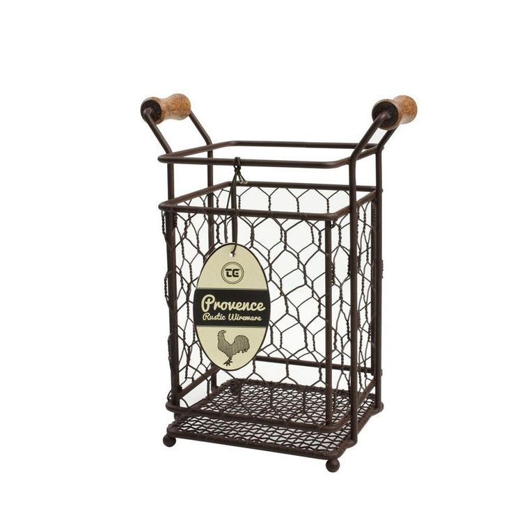 Provence Chicken Wire Utensil Holder | kitchen | Pinterest | French ...