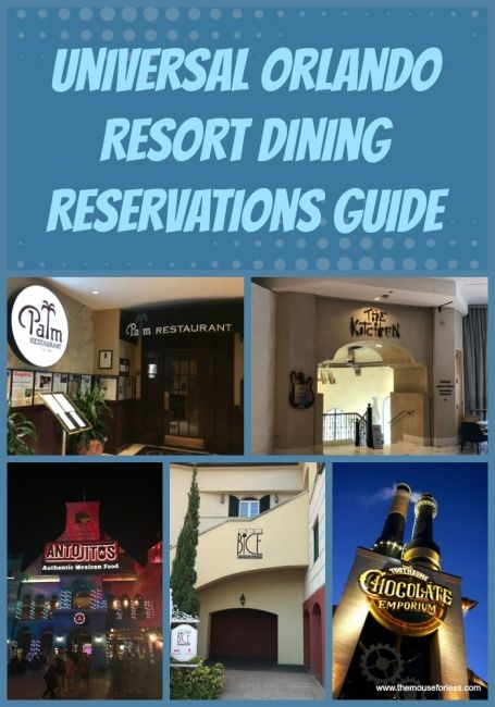 Dining Reservations Guide In 2019 Universal Orlando Dining