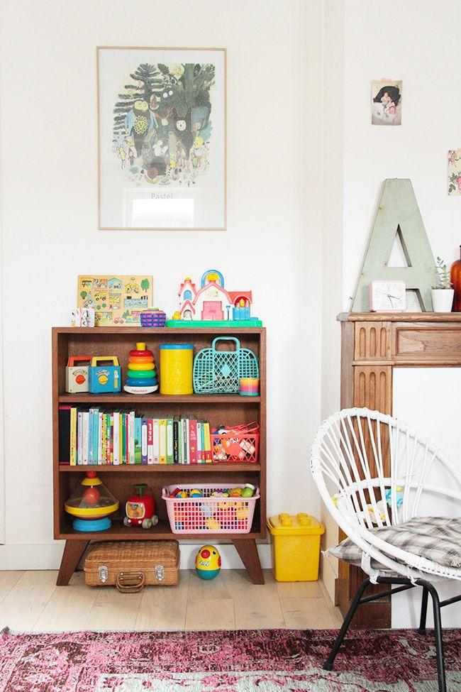 J ai chin une biblioth que pour enfant des ann es 60 d tails d coration chambre enfant - Deco chambre annee 60 ...