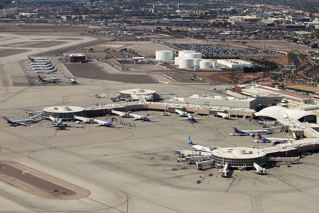Las Vegas McCarren Airport T1 Virgin america, Las vegas