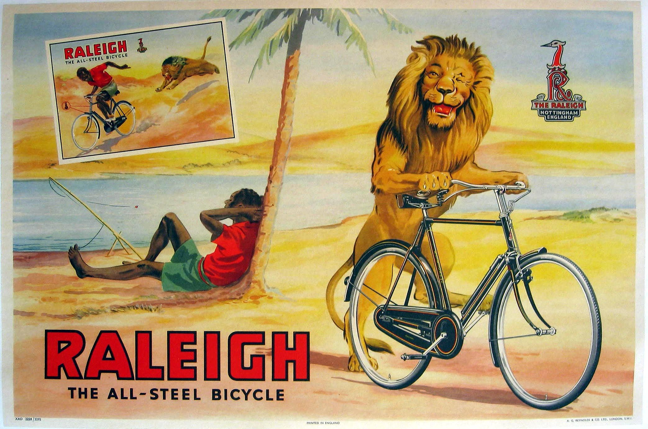 RALEIGH Vintage retro Head Cycle Bike GOLD Stickers