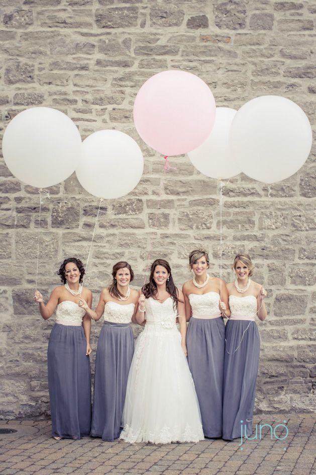 Lovely Two Tone Bridesmaid Dresses