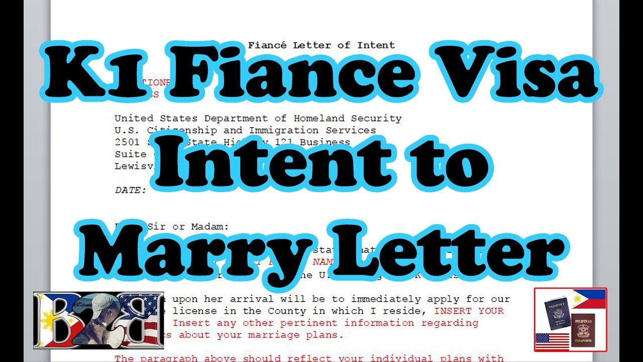 Video K40 Visa Intent To Marry Letter Include on your I 4029F ...