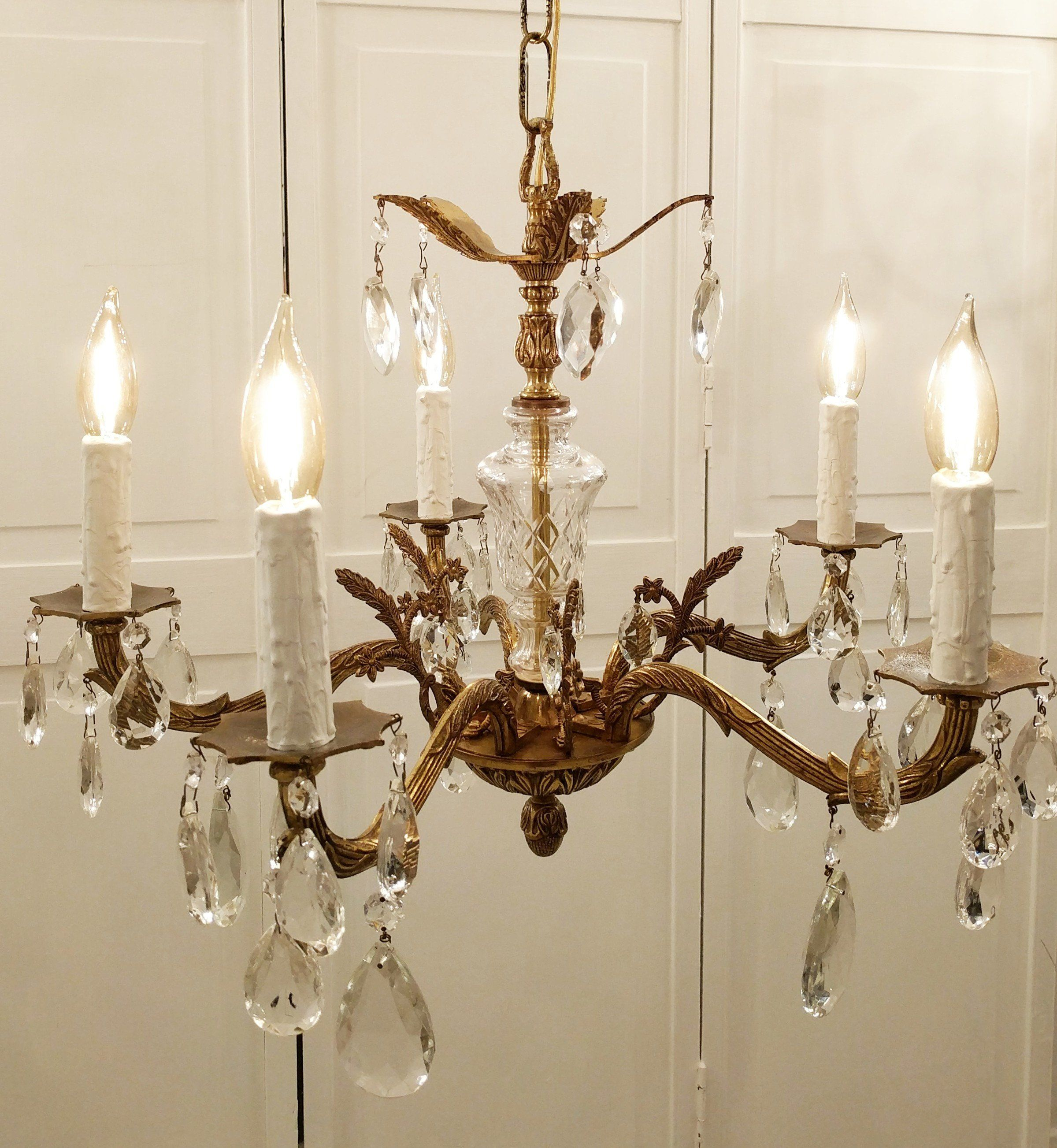 Vintage Chandelier Chandelier Lighting Bespoke Lighting Spanish Brass Chandelier Crystal Chande Vintage Chandelier Lighting Inspiration Chandelier Lighting