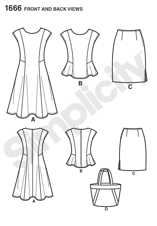 Simplicity Creative Group - Misses\' & Miss Petite Dress & Separates ...