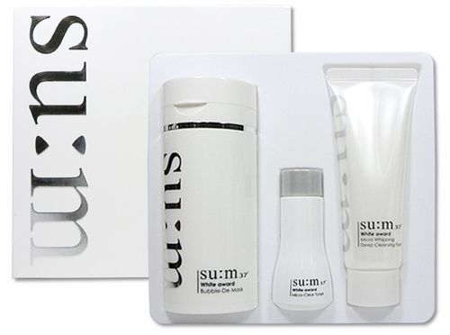 LG Su:m 37 White Bright Award Bubble-De Mask Special Set 3 in 1 Effects K-Beauty #LGSum37