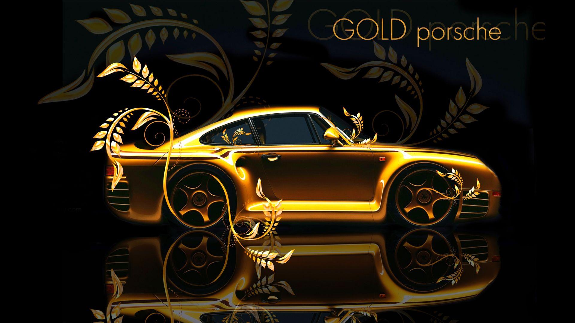 Gold-Porsche