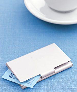 Business Card Holder as Sugar Packet Carrier