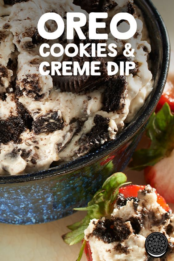 This easy-to-make OREO Cookies & Creme Dip is the ideal treat for any outdoor get together.