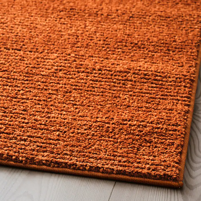 sporup tapis poils ras brun 200x300