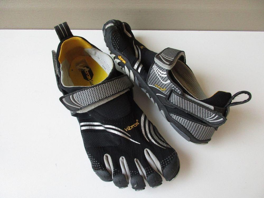 new style 2b3f3 2e2c6 VIBRAM FIVEFINGERS KOMODO KMD Sport Running Black silver size 42 M3685   Vibram  CrossTraining