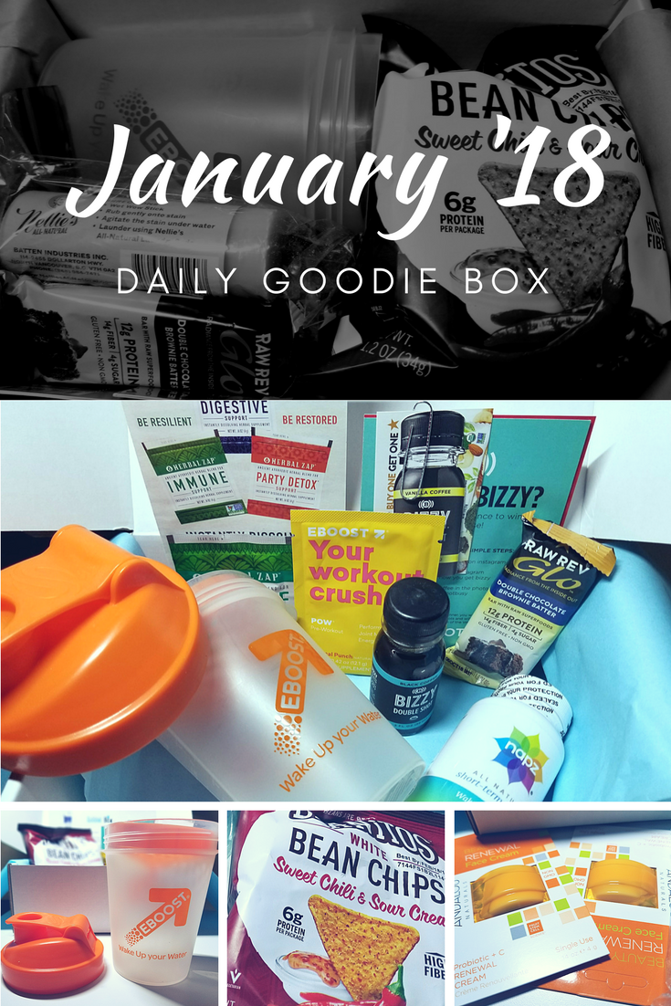 Daily Goodie Box for January 2018 #dailygoodiebox #unboxing