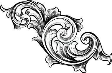 Flowing Scrolls Acanthus Engraving Art Filigree Tattoo