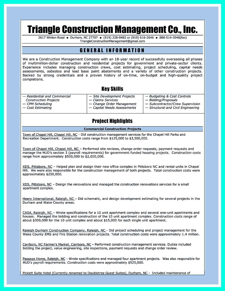 nice Perfect Construction Manager Resume to Get Approved, Check more ...