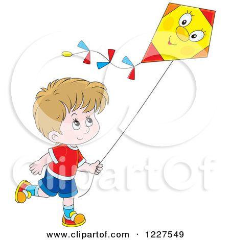 Pictures Of Children Flying Kites Child Flying Kite Clipart