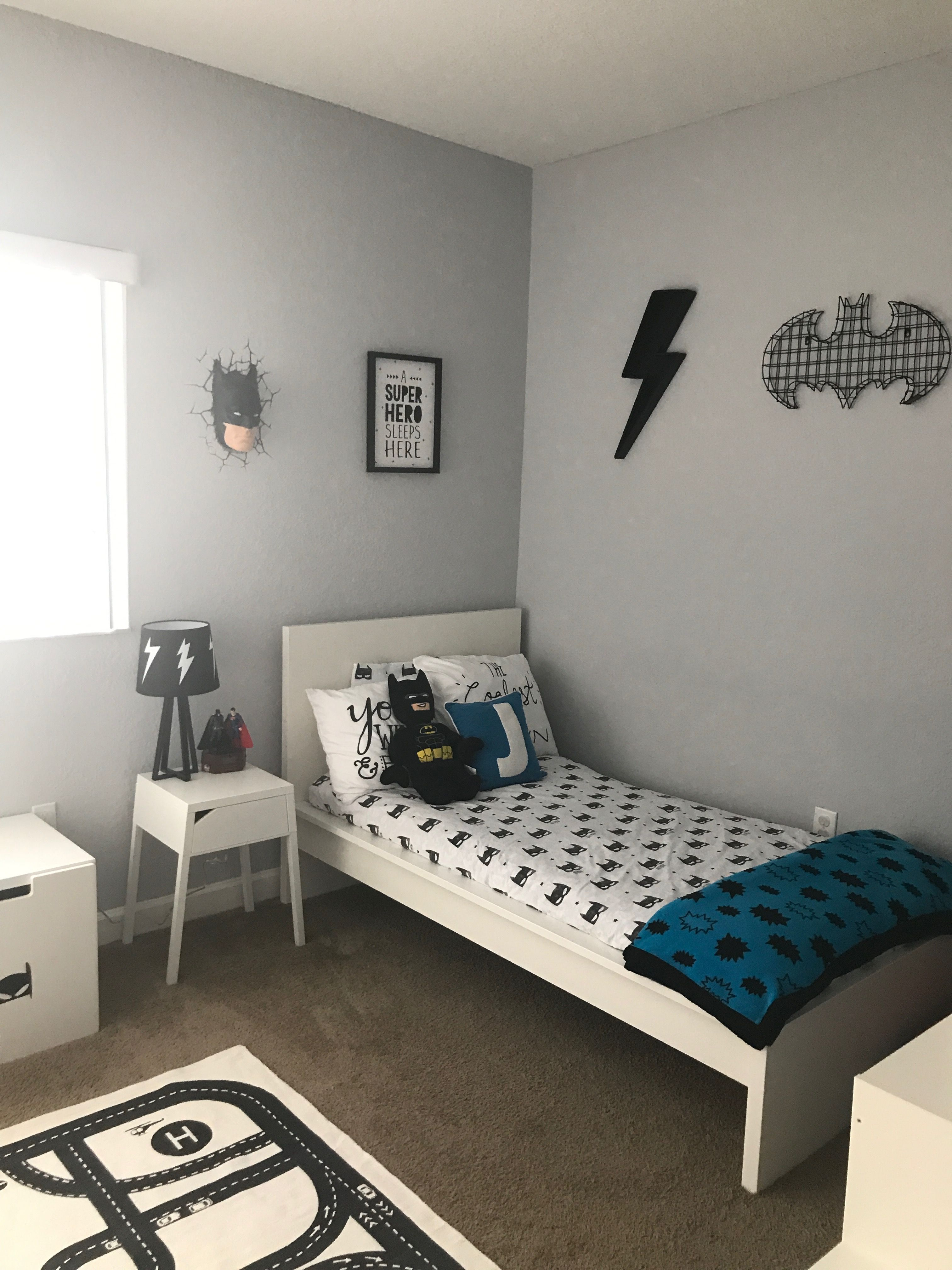 Toddler Batman Room Black And White