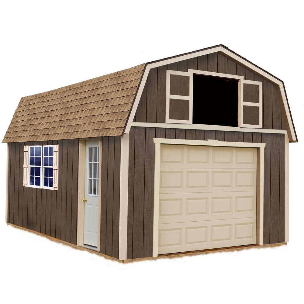 Best Barns Tahoe 12 Ft X 20 Ft Wood Garage Kit Without Floor Tahoe 1220 The Home Depot Wood Garage Kits Best Barns Storage Shed Kits
