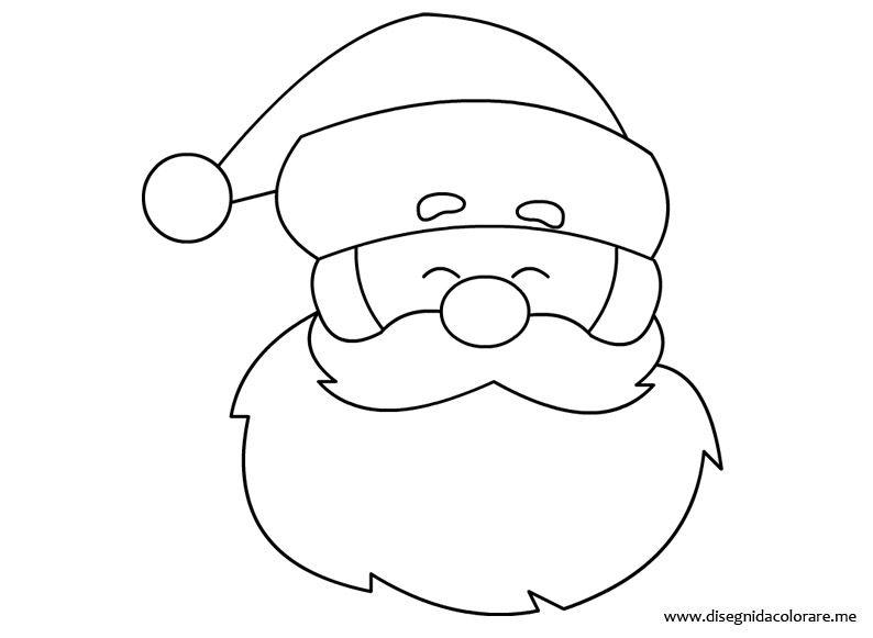 Immagini Viso Babbo Natale.Babbo Natale Da Colorare Natal Natale Babbo Natale E