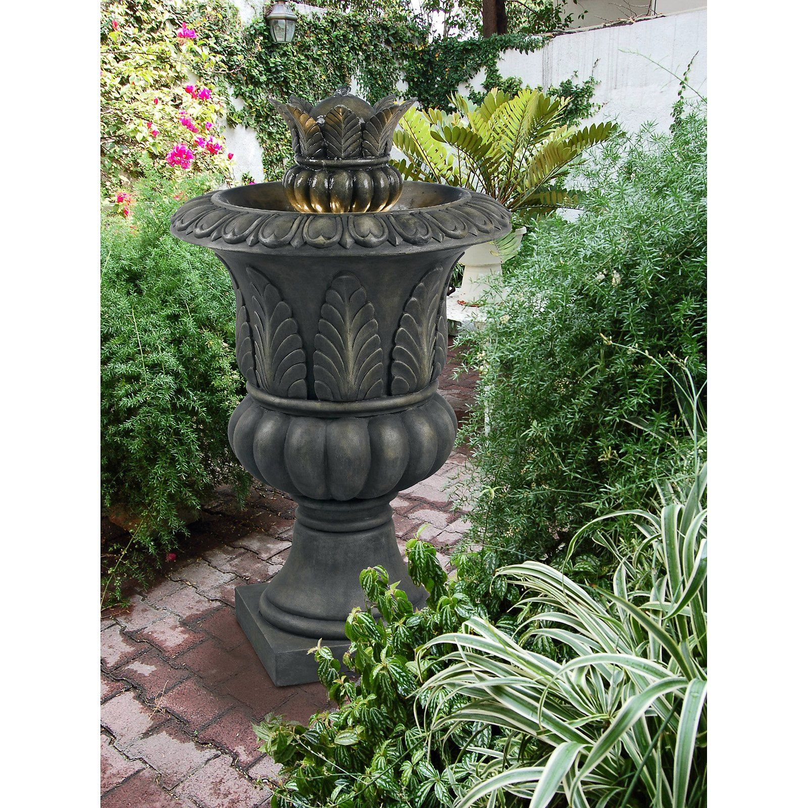 Have To Have It Kenroy Tuscan Urn Indoor Outdoor Floor Fountain 469 80 Tuscan Decorating Tuscan Design Outdoor Flooring