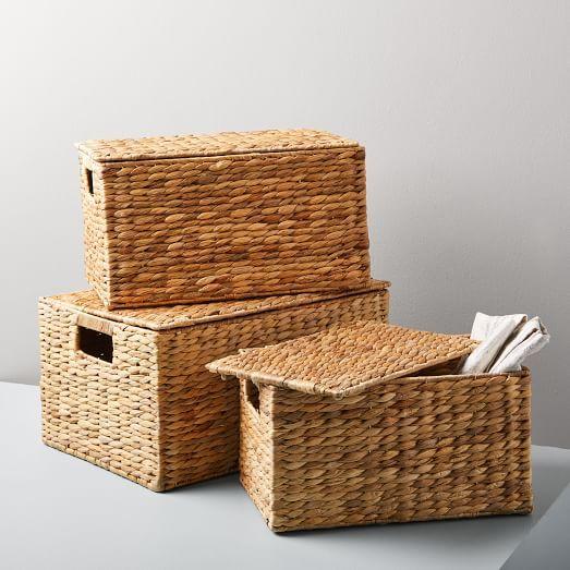 Twist Weave Baskets - Natural