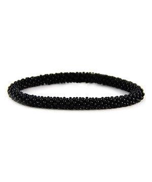 Love this Black Circle Bead Stretch Bracelet by MOA International Corp on #zulily! #zulilyfinds
